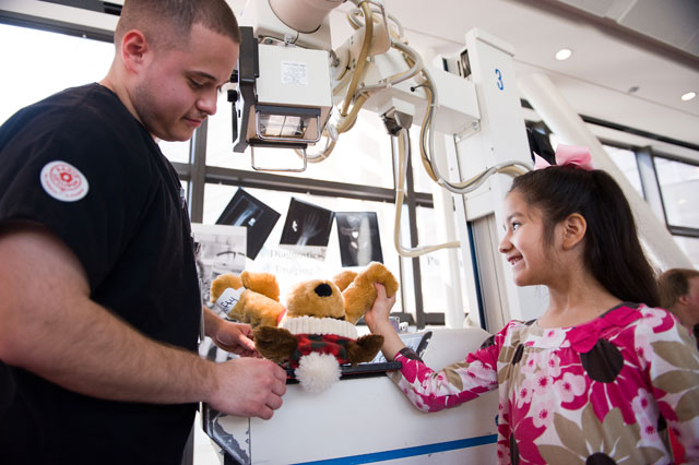 Patients learn about hospital procedures