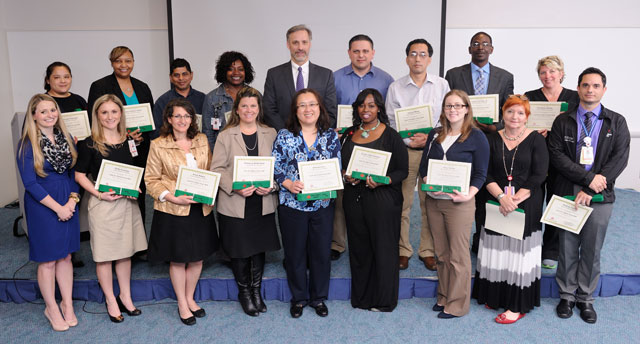 Six Sigma graduates receive Green Belt certification