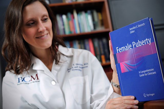 Dietrich's new book spotlights growing trend in early adolescent puberty