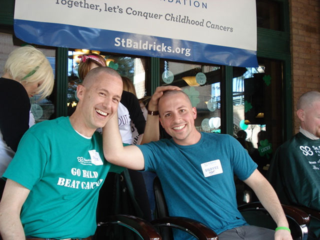 Oncologist shaves head with former patient to raise funds for childhood cancer research
