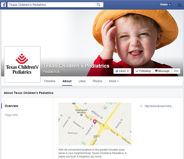 Texas Children's Pediatrics on Facebook