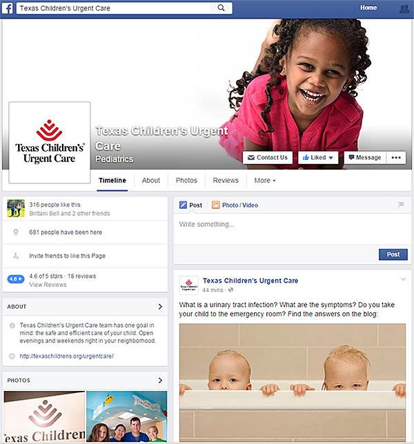 Texas Children's Urgent Care is on Facebook