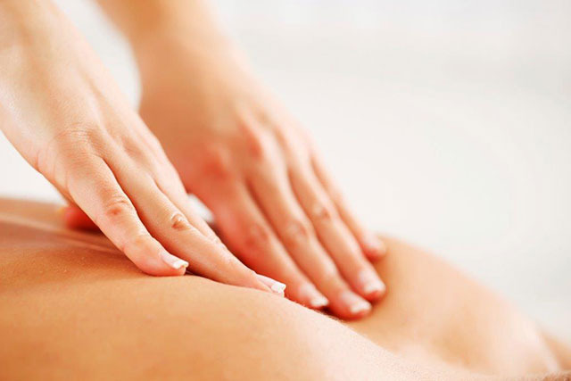Employees benefit from massage therapy at Pavilion for Women