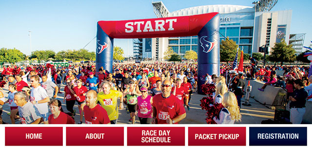 Sign up now to run with TORO from the Houston Texans at NRG stadium