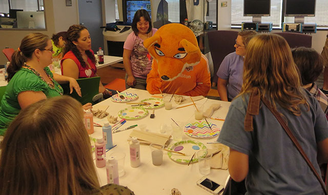 Pulmonary hypertension team hosts tile painting party, proceeds benefit PHA