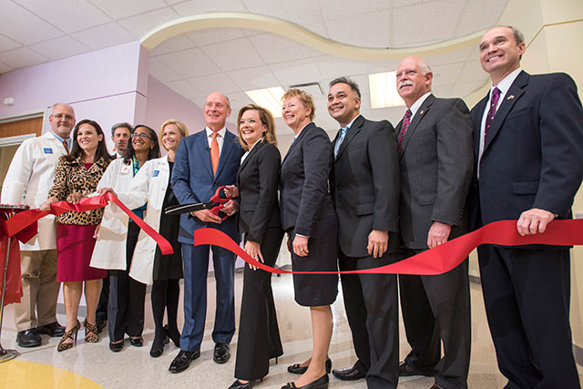 Ribbon cutting held for special isolation unit at West Campus