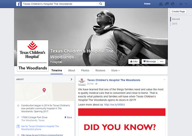 Texas Children's Hospital The Woodlands on Facebook