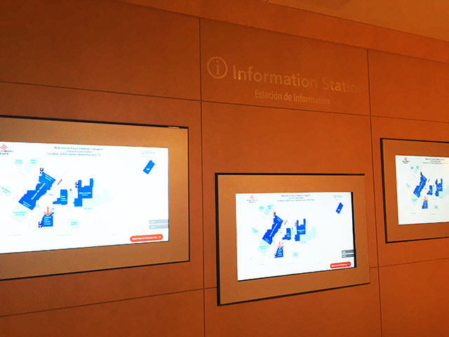 Information stations installed at CCC aim to help patients, families with way finding
