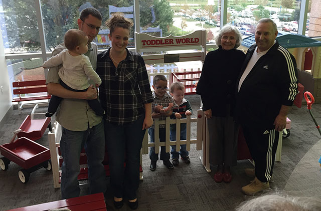 Toddler play yard donated to West Campus