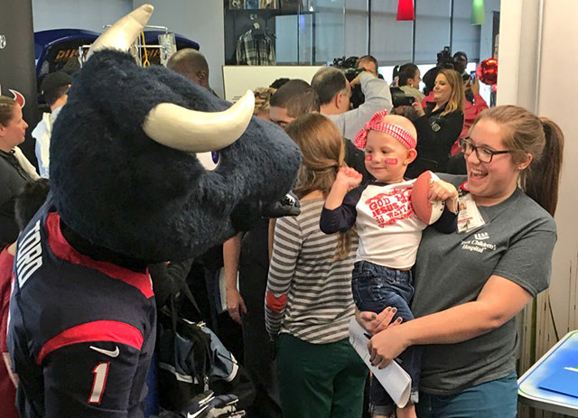 Texans host playoff party for Texas Children's patients and families
