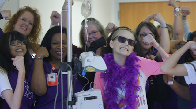 Cancer patient praises West Campus in music video