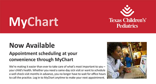 Appointment scheduling made more convenient through MyChart