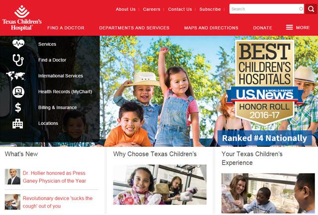 Texas Children's websites revamped to look, feel better