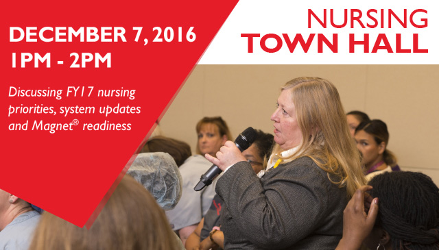 Nurses encouraged to pre-register for Virtual Town Hall set for December 7