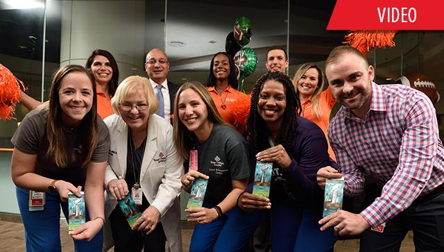 Five Texas Children's nurses, two patients surprised with tickets to the big game