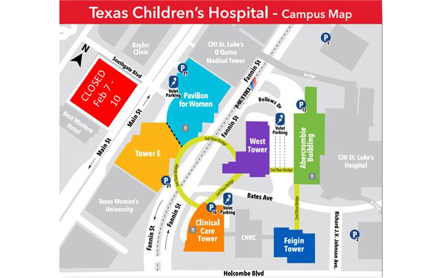 Main Street lot closure to prepare for Pediatric Tower topping out celebration