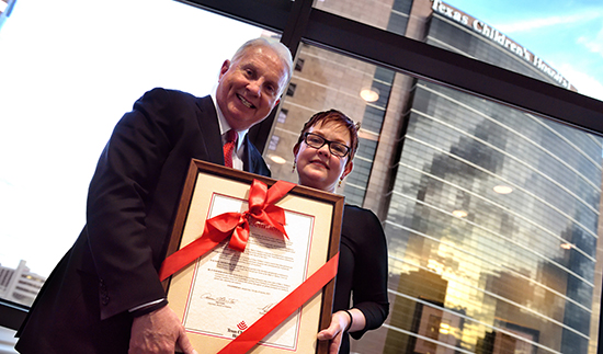 Clinical building renamed Mark A. Wallace Tower to honor leadership, service