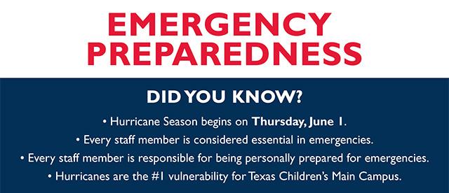 Texas Children's prepares for 2017 hurricane season and other emergencies