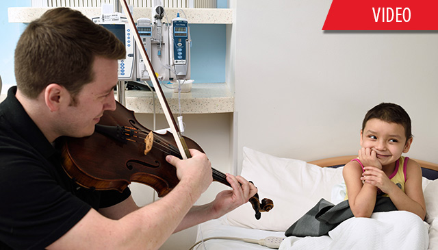 Periwinkle Arts In Medicine Program's partnership with Houston Symphony lifts patients' spirits
