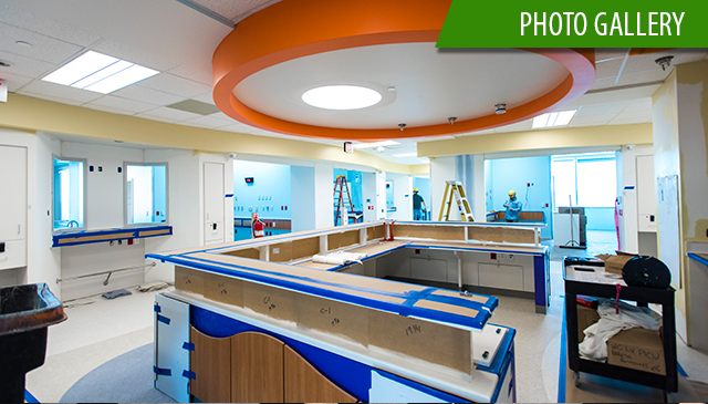 West Campus PICU expansion hits halfway point