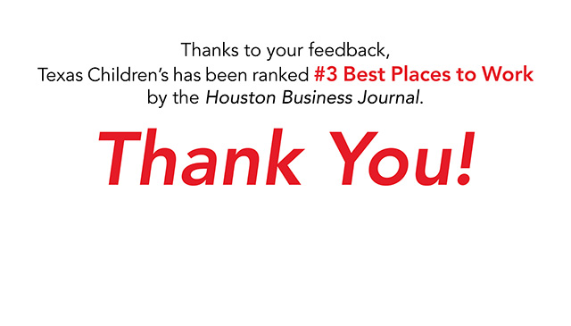 Texas Children's Hospital named one of the Best Places to Work in Houston
