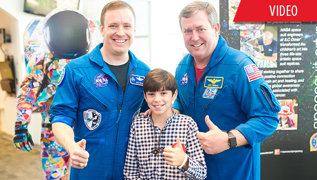 NASA brings Spacesuit Art Project to patients at Texas Children's Cancer Center