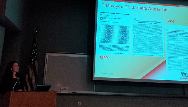 Inaugural Dr. Barbara J. Anderson lecture presents honored speaker