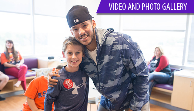 Astros shortstop Carlos Correa visits Texas Children's Hospital The Woodlands