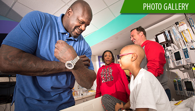 NBA legend Shaquille O'Neal shows support for Texas Children's Cancer Center