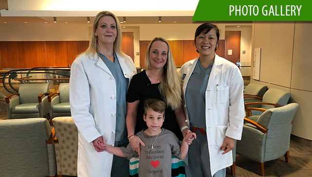 Mothers donates kidney to 7-year-old son giving him chance at better life