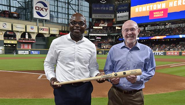 Poplack honored as Houston Astros Hometown Hero