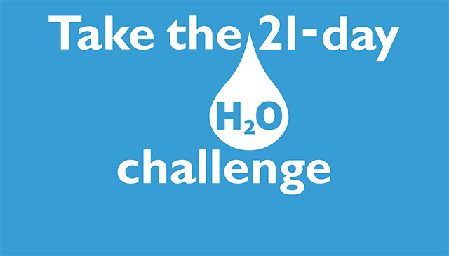 Register today to participate in the 21-day H2O challenge