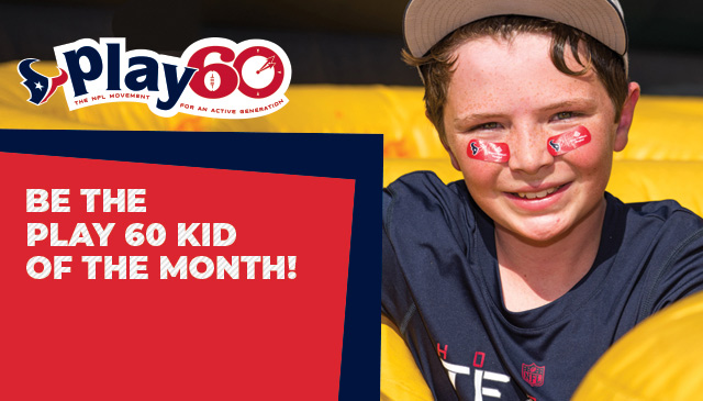 Sign your child up now to be a PLAY 60 Kid of the Month