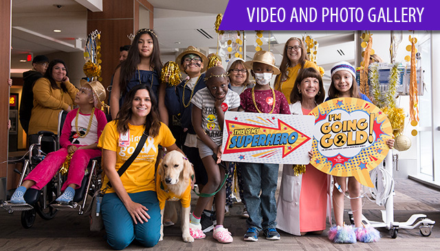 """Texas Children's """"Goes Gold"""" for National Childhood Cancer Awareness month"""