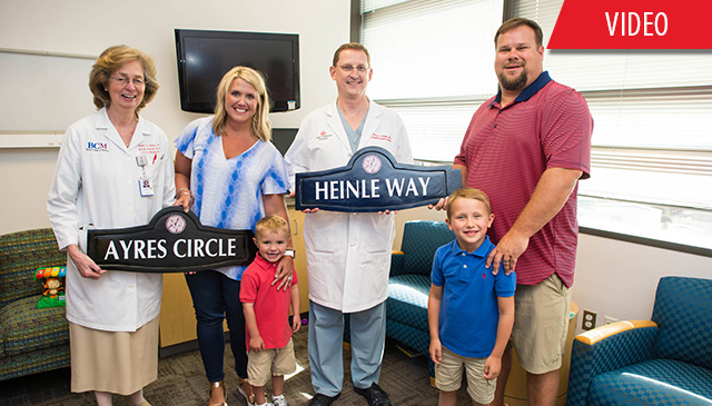 New subdivision named to honor family's journey at Texas Children's Heart Center