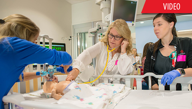 Heart Center simulations in Legacy Tower test patient care spaces, prepare staff for opening day