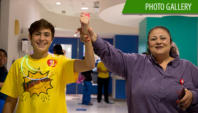 Patients on Bone Marrow Unit celebrate National Cancer Awareness Month