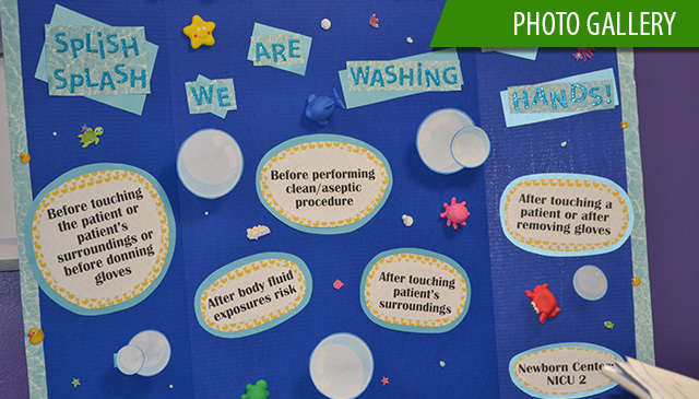 Texas Children's staff participate in system-wide hand hygiene poster competition