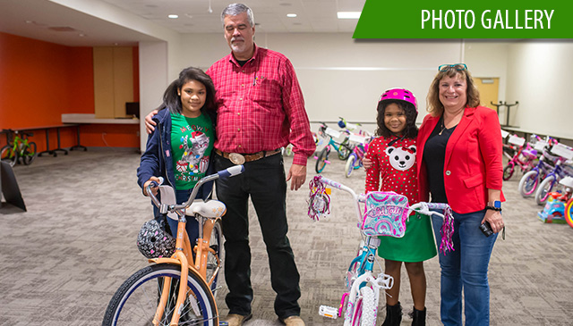 The Woodlands partnered with local company for annual bicycle donation