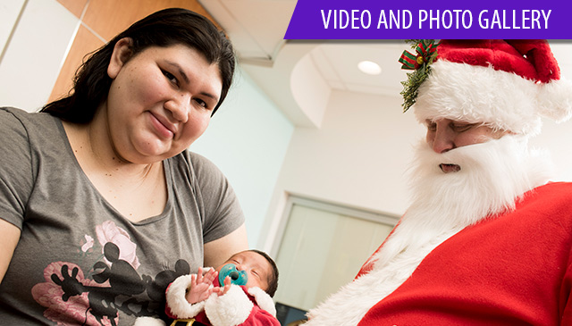 Santa Claus brought holiday spirit to families, babies in NICU